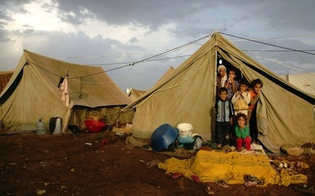 The Domiz Camp, near Duhok, has been drastically overcrowded, housing around 35,000 refugees in a facility which was supposed to house only 15,000. Photo: AFP