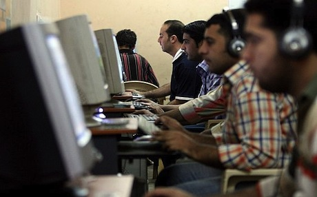 An internet cafe in Baghdad. Photo: AFP