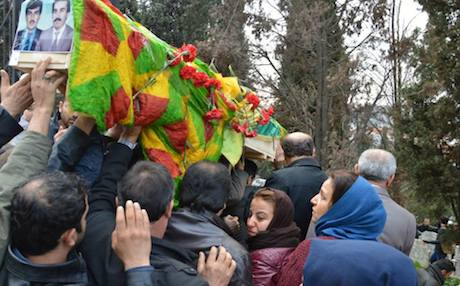 Relatives and activists gathered for the funeral on Thursday. Photo: Benim Annem Cumartesi/Facebook (the Saturday Mothers of Turkey)