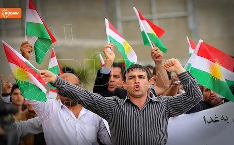 Residents of Erbil condemning Iraq's sectarian policies, April, 2014. Photo: Rudaw