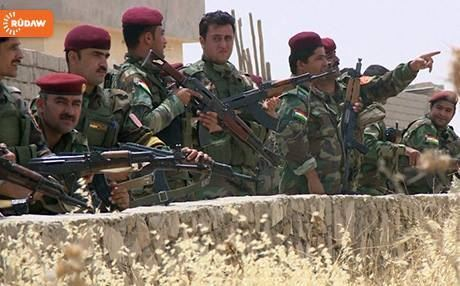 Peshmerga forces on the frontlines.