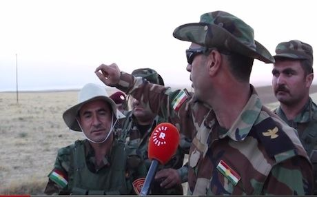 The Kurdish forces went on the offensive on Sunday after Islamic militants captured Shangal 200 kilometers west of Erbil.