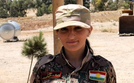 Sashida Sadiq was one of 20 women selected for military service among the 2,800 people who tried to enlist in Dohuk. Photo by author.